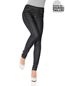 B.C. Best Connections - Leggings femme à taille élastiquée, effet jean